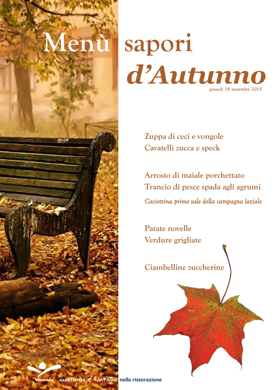 Menu Autunno 2015